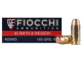 Product detail of Fiocchi Shooting Dynamics Ammunition 40 S&W 180 Grain Flat Nose Box of 50