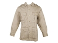Boyt Men's Shumba Safari Jacket Long Sleeve Cotton Khaki XL 46-48
