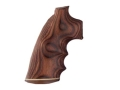 Hogue Fancy Hardwood Grips with Accent Stripe, Finger Grooves and Contrasting Butt Cap Colt Python Rosewood Laminate