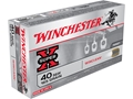 Winchester USA WinClean Ammunition 40 S&amp;W 165 Grain Brass Enclosed Base Box of 50