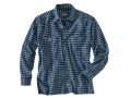 Woolrich Elite Oxford Concealed Carry Long Sleeve Shirt Cotton Navy Plaid Large