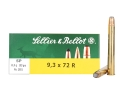 Sellier &amp; Bellot Ammunition 9.3x72mm Rimmed 193 Grain Soft Point Box of 20