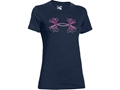 Under Armour Women's UA Antler Logo T-Shirt Short Sleeve Cotton/Polyester/Rayon Tri-Blend