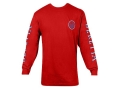 "Beretta Double Logo Shirt Long Sleeve Cotton Red Large (42"" to 44"")"
