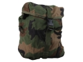 Military Surplus MOLLE Sustainment Pouch Nylon Woodland Camo