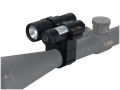 BSA Red Laser Sight and Flashlight Kit with 1&quot; Rifle Scope Ring-Mount Matte