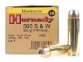 Hornady Custom Ammunition 500 S&amp;W Magnum 350 Grain XTP Jacketed Hollow Point Box of 20