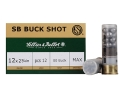 "Sellier & Bellot Ammunition 12 Gauge 2-3/4"" 00 Buckshot 12 Pellets"