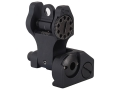 Troy Industries Rear Flip-Up Battle Sight AR-15 Flat-Top Aluminum Black