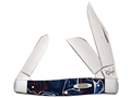 Case Patriot Large Stockman Folding Pocket Knife 3-Blade Clip, Sheepsfoot and Spey Points Stainless Steel Blades Kirinite Handle
