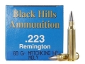 Product detail of Black Hills Remanufactured Ammunition 223 Remington 69 Grain Sierra MatchKing Hollow Point Boat Tail Moly Box of 50