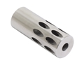 "Volquartsen Forward Blow Compensator Ruger 10/22 22 Long Rifle .920 Diameter 1/2-28"" Thread Stainless Steel"