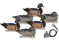 Hard Core Pre-Rigged Wood Duck Decoy Pack of 6