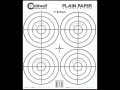 Caldwell Plain Paper Target 4&quot; Bullseye Package of 25