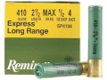 "Remington Express Extra Long Range Ammunition 410 Bore 2-1/2"" 1/2 oz #4 Shot Box of 25"