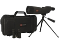 Simmons ProSport Spotting Scope 20-60x 60mm Combo with Table Top Tripod, 8x 21mm Binocular and Hard Case Gray