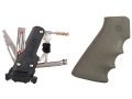 Hogue OverMolded Pistol Grip AR-15, LR-308 with Samson Field Survivor Kit Olive Drab