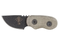 "Ontario Little Bird Fixed Blade Knife 1-3/4"" Drop Point 1095 Black Steel Blade Micarta Handle Green"