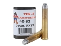 Ten-X Cowboy Ammunition 40-82 WCF 260 Grain Lead Round Nose Flat Point Box of 20