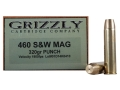 Grizzly Ammunition 460 S&amp;W Magnum 320 Grain PUNCH Box of 20
