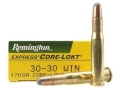 Product detail of Remington Express Ammunition 30-30 Winchester 170 Grain Core-Lokt Soft Point Box of 20