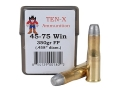 Ten-X Cowboy Ammunition 45-75 WCF 350 Grain Round Nose Flat Point Box of 20