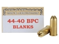 Ten-X Ammunition 44-40 WCF Pistol Blank BPC Box of 50