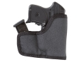 Product detail of Tuff Products Pocket-Roo Pocket Handgun/Magazine Holster Ambidextrous Ruger LCP, KAHR P380, Keltec P32, 3AT, Colt Pony with Crimson Trace Laser Grips Laminate Black