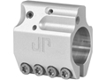 "JP Enterprises Adjustable Low Profile Gas Block Standard Barrel .750"" Inside Diameter Stainless Steel Silver"