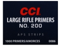 Product detail of CCI Large Rifle APS Primers Strip #200