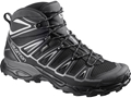 "Salomon X Ultra Mid 2 GTX 6"" Hiking Boots Synthetic Black/Aluminum Men's"