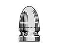 Saeco 1-Cavity Magnum Bullet Mold #384 9mm (356 Diameter) 122 Grain Round Nose