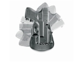 Fobus Compact Roto Paddle Holster Right Hand Glock 17, 19, 22, 23, 31, 32, 34, 35 Polymer Black