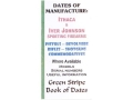 Green Stripe Data Books &quot;Ithaca and Iver Johnson&quot; Book by Firing Pin Enterprises