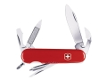 Wenger Swiss Army Highlander Folding Knife 11 Function Swiss Surgical Steel Blades Polymer Scales Red