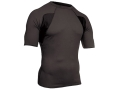 "BlackHawk Engineered Fit Mock Collar Shirt Short Sleeve Synthetic Blend Black Large (42"" to 44"")"