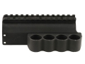 Mesa Tactical Sureshell Shotshell Ammunition Carrier with Picatinny Optic Rail 12 Gauge Benelli M4, M1014 4-Round Aluminum Matte