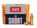 CCI Ammunition 22 Short 29 Grain Copper Plated Lead Round Nose Box of 100