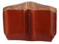 Gould & Goodrich Double Magazine Pouch Double Stack Glock Magazines Leather Brown