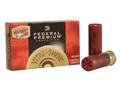 "Federal Premium Vital-Shok Ammunition 12 Gauge 2-3/4"" 00 High Density Lead-Free Buckshot 9 Pellets Flitecontrol Wad Box of 5"