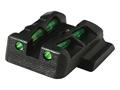 HIVIZ LITEWAVE Rear Sight Glock Large Frame Steel Fiber Optic Red, Green, Black