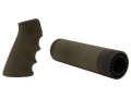Hogue OverMolded Pistol Grip and Free Float Tube Handguard AR-15 Carbine Length Rubber Olive Drab