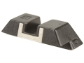 Glock Square Rear Sight 6.1mm .240&quot; Height Steel Black White Outline
