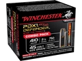 "Winchester Supreme Elite Self Defense Ammunition Combo Pack 45 Colt (Long Colt) 225 Grain Jacketed Hollow Point and 410 Bore 2-1/2"" 3 Disks over 1/4 oz BB Bonded PDX1 Box of 20 (10 Rounds of Each)"