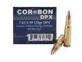 Cor-Bon DPX Hunter Ammunition 7.62x39mm 123 Grain DPX Hollow Point Lead-Free Box of 20