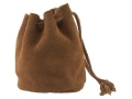 Oklahoma Leather Bullet Bag Stand Up Type Suede Brown