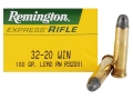 Product detail of Remington Express Ammunition 32-20 WCF 100 Grain Lead Flat Nose Box of 50