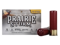 Federal Premium Prairie Storm Ammunition 12 Gauge 3&quot; 1-1/8 oz #4 Steel Shot Shot Box of 25