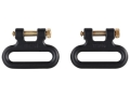 "The Outdoor Connection Titan Q-R Detachable Sling Swivels 1"" Stainless Steel Black (1 Pair)"