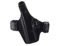 Bianchi Allusion Series 130 Classified Outside the Waistband Holster Left Hand Glock 17, 22, 31 Leather Black